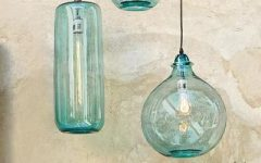 Turquoise Blue Glass Pendant Lights