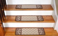 Basket Weave Washable Indoor Stair Tread Rugs