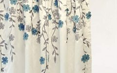 Floral Embroidered Faux Silk Kitchen Tiers