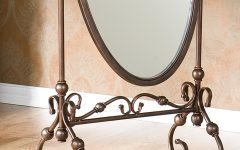 Wrought Iron Floor Mirror