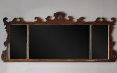 Wooden Overmantle Mirror