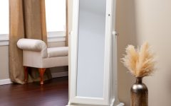 Full Length Free Standing Mirror With Drawer
