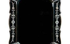 Black Venetian Mirror