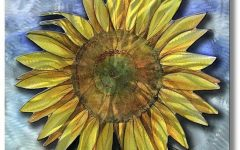 Metal Sunflower Wall Art