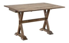 Villani Drop Leaf Rubberwood Solid Wood Pedestal Dining Tables