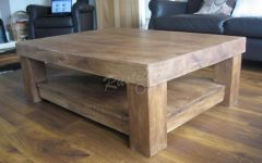 Chunky Wood Coffee Tables