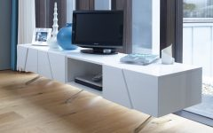 Large White TV Stands