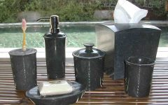 Bathroom Accessories Detailed About Black Marble Bathroom