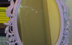 Oval Shabby Chic Mirror
