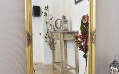 Gold Standing Mirror