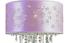 Purple Crystal Chandelier Lighting