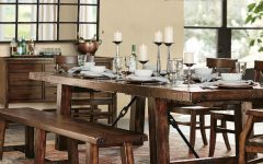 Rustic Mahogany Benchwright Dining Tables