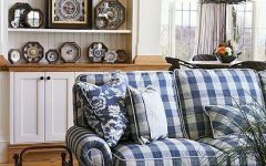 Blue Plaid Sofas