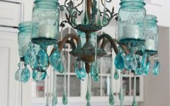 Turquoise Lantern Chandeliers