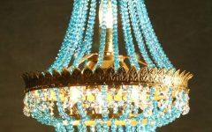 Turquoise Mini Chandeliers