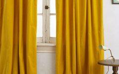 Yellow Velvet Curtains