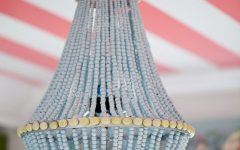 DIY Turquoise Beaded Chandeliers