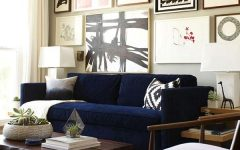 Living Room With Blue Sofas