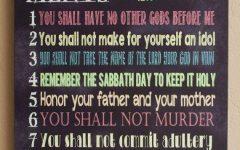 10 Commandments Wall Art