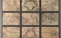 Old Map Wall Art
