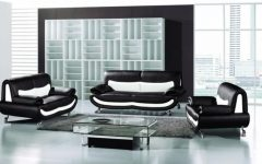 Black and White Sofas and Loveseats