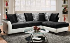 Black and White Sectional Sofa