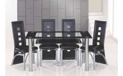 Black Glass Dining Tables With 6 Chairs