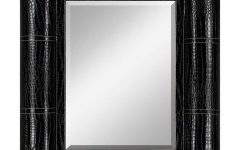 Black Leather Framed Mirror