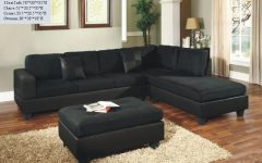 Black Microfiber Sectional Sofas