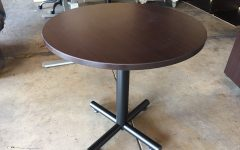 Collis Round Glass Breakroom Tables