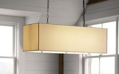 Rectangular Drum Pendant Lights