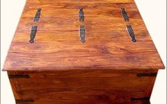 Square Wood Coffee Tables With Storage