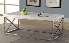 White and Chrome Coffee Tables
