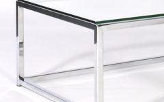 Glass Chrome Coffee Tables