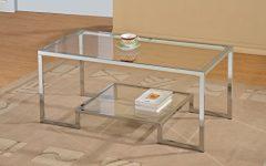 Glass Coffee Tables With Shelf
