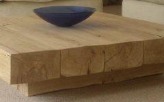 Large Low Oak Coffee Tables