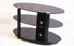 Oval Glass TV Stands