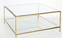 Large Square Glass Coffee Tables