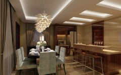 Bronze Dining Room Lighting for Luxury Interior