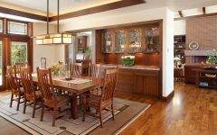 Built in Buffet for Modern Craftsman Dining Room