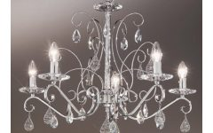 Chrome and Crystal Chandelier