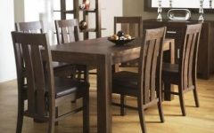 Walnut Dining Tables and 6 Chairs