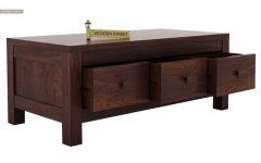 Walnut Finish 6-Drawer Coffee Tables
