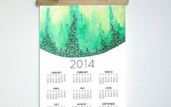 Abstract Calendar Art Wall