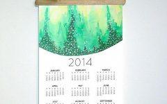 Abstract Calendar Art Wall