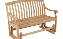 Teak Outdoor Glider Benches