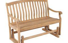 Teak Outdoor Glider Benches