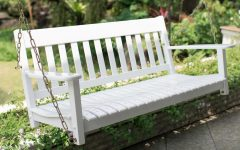 CasualThames White Wood Porch Swings