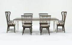 Candice Ii 7 Piece Extension Rectangular Dining Sets With Slat Back Side Chairs