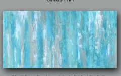 Blue Canvas Wall Art